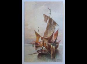 Segelschiff, Meer, 1920 ♥ (74216)