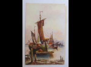 Segelschiff, Meer, 1920 ♥ (74217)