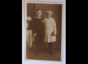 Foto, Kommunion, Kinder, Mode, Matrose, 1932 ♥ (74642)