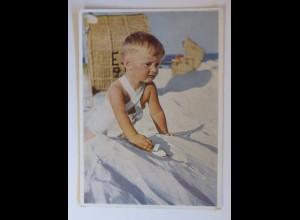 Foto Agfacolor, Kinder, Mode, Spielzeug, Strand, 1950 ♥ (51193)
