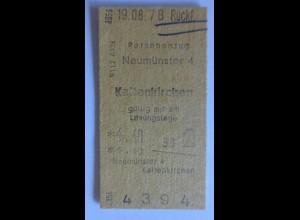 Fahrkarte Neumünster-Kaltenkirchen 1978 Jahre ♥ (6435)