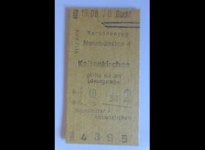 Fahrkarte Neumünster-Kaltenkirchen 1978 Jahre ♥ (3501)