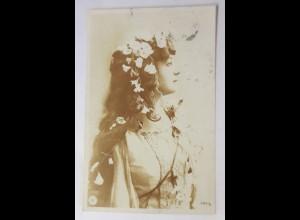 Frauen, Mode, Haarschmuck, Jugendstil, 1906, Lentatypie ♥ (74681)