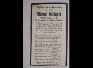 Sterbebildchen Eisenbahner Hattinger aus Pöndorf 1949 (3150)