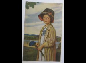 Kinder, Mode, Hutmode, Kornblumen, 1903, Corn. Max ♥ (64833)