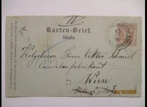 Lebensmittel Süßwaren, Österreich GA von Bieritz an Victor Schmidt Wien (5189)