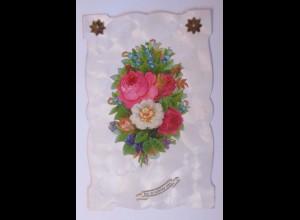 """""""Oblate auf Ansichtskarte, Rosen, Blumen"""" 1906 ♥ (56799)"""