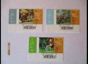 Deutschland 3325-3327 Marionetten Augsburger Puppenkiste Eckrand EST (59788)