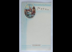 Menükarte, Menu, Reklame, Schockolade Phoscao, 1920 ♥ (X1)