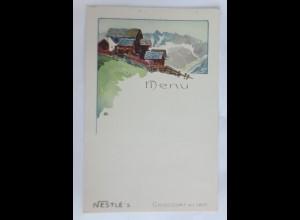 Menükarte, Menu, Reklame, Nestle Schokolade, Chocolat Frankreich ca.1920 ♥ (X1)