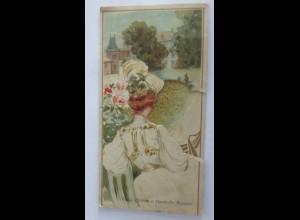 Menükarte, Reklame, Frankreich, Jugendstil Frauen, Fine Bernard Likör,1900♥(X1)