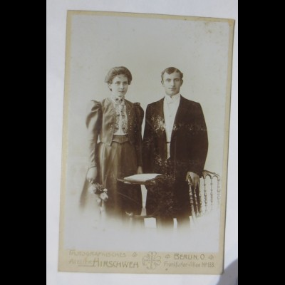 Foto, Frauen, Männer, Mode, Atelier Hischweh Berlin, O. ca.1890 ♥ (45903)