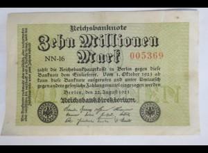 Reichsbanknote 10 Millionen Mark 1923 NN-18 373598 ♥ (5G)