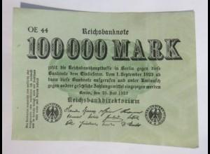 Reichsbanknote 100000 Mark 1923 OE 44 ♥ (20G)