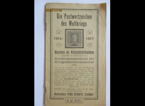 Literatur Katalog, Postwertzeichen des Weltkrieges 1914-1917 Redwitz Stuttgart