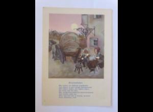 Wichtel, Gnom, Zwerge, Sommerfahrt, 1950,Roswitha-Karte ♥ (51830)