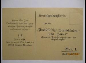 Feuer Feuerversicherung, Werbekarte Österreich ca. 1910 (71020)