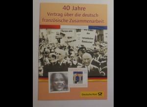 Sonderblatt 40 Jahre Vertrag über die deutsch-französische Zusammenarbeit 2003♥