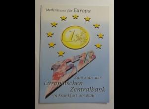 Sonderblatt Meilensteine für Europa 1998 ♥