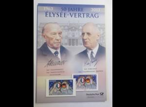 Sonderblatt 50 Jahre Elysee-Vertrag 2013 ♥