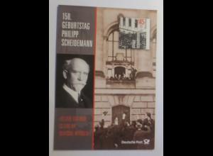 Sonderblatt 150 Geburtstag Philipp Scheidemann 1993 ♥