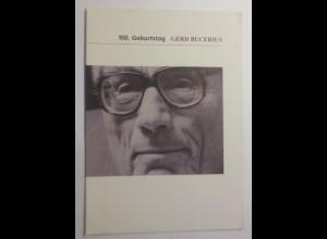 Sonderblatt 100 Geburtstag Gerd Bucerius 1984 ♥