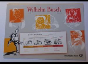 Sonderblatt Wilhelm Busch Hans Huckebein 1908 ♥