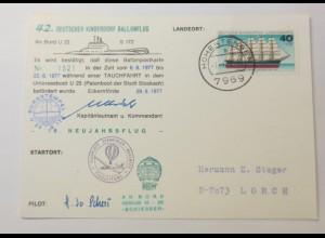 Ballonpost 42.DKSB Unterseeboot U 23 1977 ♥ (37211)