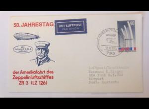 Zeppelin 50.Jahrestag der Amerikafahrt des Luftschiffes ZR 3 (LZ126)1974♥(63826)