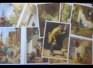 Künstlerkarten 10 Karten Carl Spitzweg Bekanntesten Gemälde Dresden ♥ (42954)