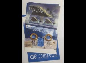 Belgien 100 J. Untergang 3D TITANIC-Block 116 Sonderstempel-Schiff-2012 ♥ (A2)