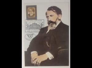 Maximumkarte 125. Geburtstag von Arthur Schnitzler 1987 ♥ (74932)