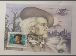 Maximumkarte Internationaler Richard-Wagner Kongreß Wien 1986 ♥ (74956)