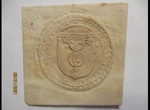 Siegel ca. 1800, in hallis sigillum universitatis, Kreuz Hand Lilie (5281)