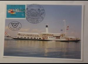 Maximumkarte Die Euregio-Bodensee Dampfschiff 1993 ♥ (75003)