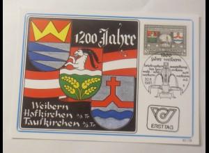 Mamimumkarte 1200 Jahre Hofkirchen, Taufkirchen und Weibern 1985 ♥ (75053)
