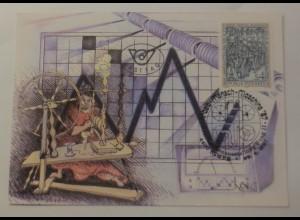 Mamimumkarte OÖ-Landesausstellung 1987 in Steyr Arbeit-Mensch-Maschine ♥ (75062)