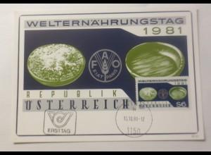Maximumkarte Welternährungstag 1981 ♥ (75079)