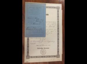 Kaiserliches Patentamt Patent-Bureau Jahr 1896 Leipzig-Plagwitz ♥ (A51)
