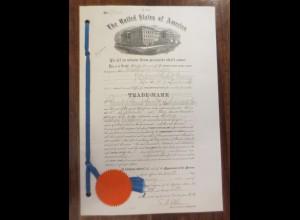 Kaiserliches Patentamt USA Patent-Bureau Jahr 1902 Leipzig-Plagwitz ♥ (A53)