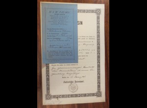 Kaiserliches Patentamt Patent-Bureau Jahr 1898 Leipzig-Plagwitz ♥ (A52)