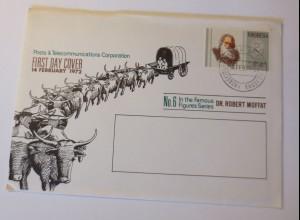 FDC Rhodesia Beiträge & Telekommunikation Korporation 1972 ♥ (75126)