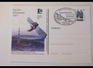Ganzsache Tag der Briefmarke 40 Jahre Weltraumfahrt 1997 ♥ (75185)