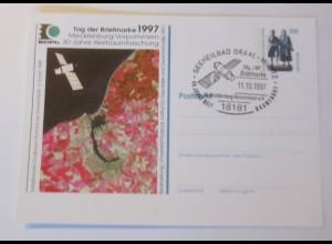 Ganzsache Tag der Briefmarke 1997 40 Jahre Weltraumforschung ♥ (75192)