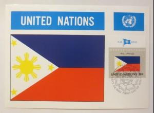 Maximumkarte Fahnen der Nation Philippines 1982 ♥ (75204)