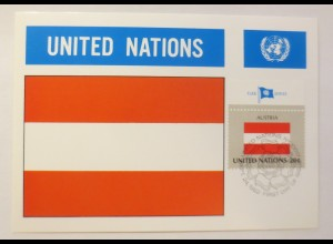 Maximumkarte Fahnen der Nation Austria 1982 ♥ (75209)