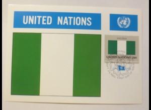 Maximumkarte Fahnen der Nation Nigeria 1982 ♥ (75217)