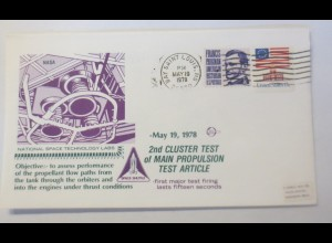 Weltraum USA National Space Technology Labs 2nd Cluster Test 1978 ♥ (51505)