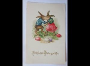 Ostern, Personifiziert, Osterhase, Tanzen,1930, Meissner&Buch♥ (65740)