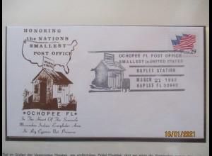 USA Ochopee Florida, Kleinste Postamt 1992 (7013)
